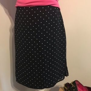 Ralph Lauren Navy & White polka dot skirt